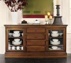 Tucker Wall Unit   Pottery Barn - I hav been watching this buffet at Pottery barn forever. Maybe I will own it someday.