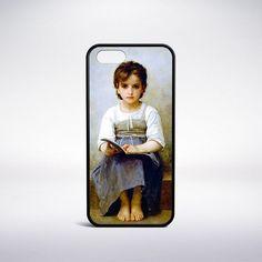 William-Adolphe Bouguereau - The Hard Lesson Phone Case