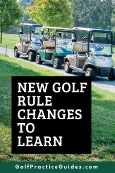 Here are some important new golf rule changes to learn that affect how the game is played. Click to read on GolfPracticeGuides.com #golfrules #golf #golftips