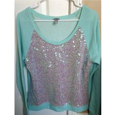 Vanity Sweater The color is a mint green. Size M & in EUC! Vanity Sweaters Crew & Scoop Necks