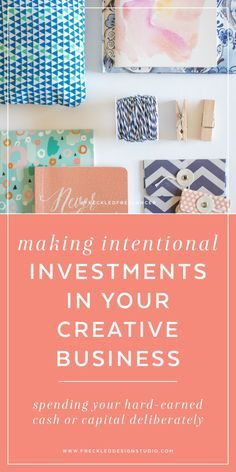 Wondering what to invest in as a new creative business owner? Click through to read how I was intentional with my business capital and how you can be too.