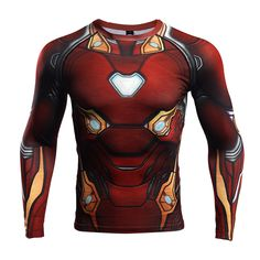 Unique Rashguard - long sleeve: Iron man Infinity War 2018 Armor – Search tags:  #2XL #3XL #compressionapparel #compressioncrossfit #compressiongear #compressionlongsleeves #compressionshirt #compressionshirts #compressionworkout #L #M #rashguard2018 #rashguardapparels #rashguardbuy #rashguardcanada