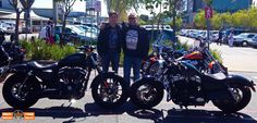 Father and son with their Harley® motorcycles. It's all about family!