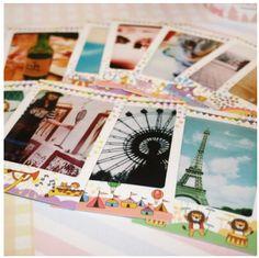 MochiThings.com: Animal Circus Instax Mini Film Frame Sticker Set
