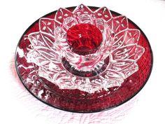 Garden Art Decor Glass Plate Art Flower Suncatcher by jarmfarm, $65.00