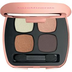 bareMinerals READY Eyeshadow 4.0 Quads, The True Romantic 1 ea ($30) ❤ liked on Polyvore featuring beauty products, makeup, eye makeup, eyeshadow, beauty, eyes, eye shadow, filler, shimmer eyeshadow and bare escentuals eye shadow