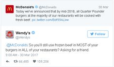 Wendy's twitter is SAVAGE Stupid Funny Memes, Funny Relatable Memes, Haha Funny, Funny Fails, Funny Texts, Hilarious, Funny Stuff, Funny Things, Wendys Twitter Roast