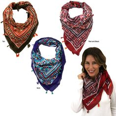 Tribal Tassel Scarf at The Veterans Site