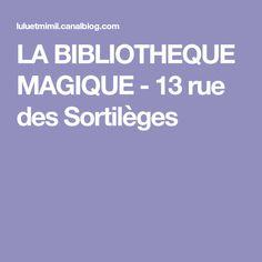 LA BIBLIOTHEQUE MAGIQUE - 13 rue des Sortilèges