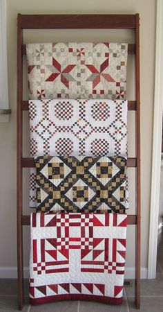 Love the quilt rack... And the quilts