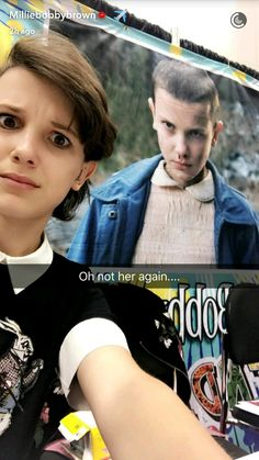 Millie Bobby Brown and Eleven.