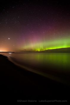 The Northern Lights in Marquette, Michigan