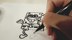 Spongebob Squarepants Drawing (Cartoon) - How to draw a Spongebob Comic! Spongebob Squarepants Drawing, Comics, Cartoon Drawings, Cards, Drawing Cartoons, Spongebob Squarepants, Kids, Art, Comic Book