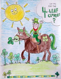 Coloring page for St Patrick's Day- free printable #print #stpatricksday skiptomylou.org
