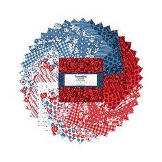 Wilmington Prints Crystals Summertime Lisa Audit 5 Karat Crystals 42 per pack | Fabric Square 5 Inch