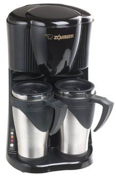 Zojirushi Gourmet Duet Dual-Mug Personal Coffeemaker, Black Zojirushi Coffee Maker, Drip Coffee Maker, Coffee Cups, Amazon Coffee, Single Serve Coffee, Coffeemaker, Nescafe, Black Kitchens, Black Stainless Steel