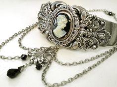 choker+jewelry | ... Choker - Cameo Choker - Gothic Victorian Jewelry - Metal Choker