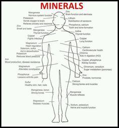 How #minerals help improve body  #health.