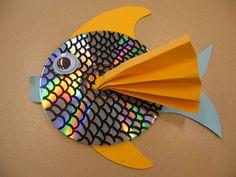 Lavoretto Pesce con CD riciclati