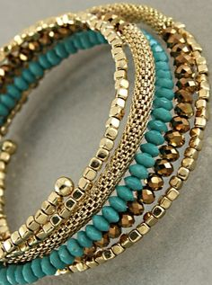 Need to DIY this!! .......Paris Green Samria Bracelet (photo only)                                                                                                                                                                                 More