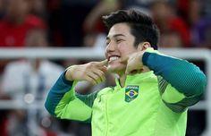 That smile the beautiful Arthur Nory Brazil's Mens Gymnastics ❤️🇧🇷❤️🇧🇷