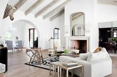 I love exposed beams