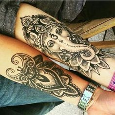 Tatuajes hindús Ganesha