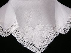 Vintage Madeira Embroidered Irish Linen by littlebitvintage2, $10.99