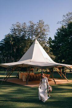 Gold Coast Tipi Wedding Magic - The Acre Boomerang Farm Tipi Wedding, Marquee Wedding, Wedding Shoot, Wedding Venues, Outdoor Dance Floors, Bohemian Weddings, Picnic Set, Big Country, Sunset Photos