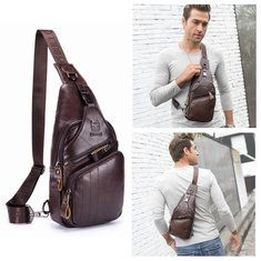 Vintage Genuine Leather Mobile Phone Camera Outdoor 11 Inches Leg Bag Waist Bag is worth buying - NewChic Mobile