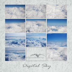 White Clouds Photo Overlays Sky Background Digital Overlay   Etsy Sky Photoshop, Photoshop Overlays, Photoshop Elements, Blue Sky Photography, Texture Photography, Picture Editing Software, Editing Pictures, Cloud Photos, Photo Texture