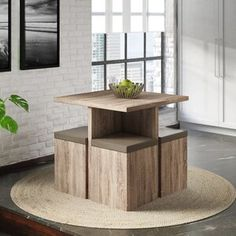 From being selective with the chairs you pick, to finding ways to Tetris furniture together, there are ways to carve out a dining area in your living room. Dining Room Sets, 3 Piece Dining Set, Solid Wood Dining Set, Pub Table Sets, Small Dining, Breakfast Nook Dining Set, Wood Table Bases, Storage Stool, Kitchen Nook