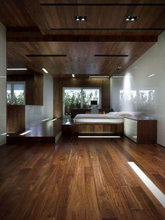 Rustic Japanese-Inspired Homes : modern japanese style house Wood Bedroom, Dream Bedroom, Dream Rooms, Bedroom Ideas, Master Bedroom, Interior Architecture, Interior And Exterior, Interior Design, Interior Ideas