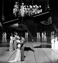 Ingrid Bergman and Gregory Peck in the Salvador Dali-designed dream sequence from Spellbound (Alfred Hitchcock, 1945)