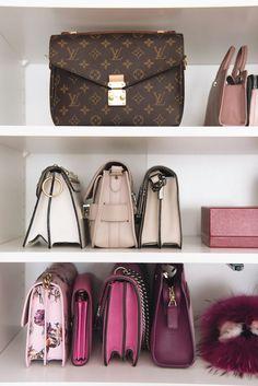 Shoe and bag closet , walk in closet, designer bags More on www.fashiioncarpet.com