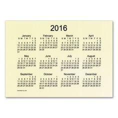 Pocket Calendar Business Card Template Calendars From The - Business card calendar template