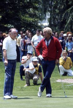 "Jack Nicklaus and Bob Hope  1970s ""Confidence is the most important single factor in this game, and no matter how great your natural talent, there is only one way to obtain and sustain it: work."" - Jack Nicklaus FREE: 5 Ways to Be a More Confident You! www.ipcoaching.net"
