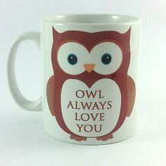 OWL ALWAYS LOVE YOU GIFT MUG CUP PRESENT I WILL VALENTINES ANNIVERSARY WEDDING