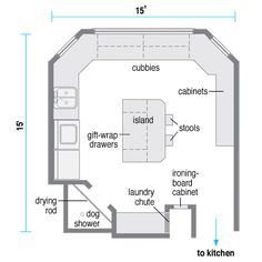 Floor Plan Of Family Room Laundry Much Better Layout Except I