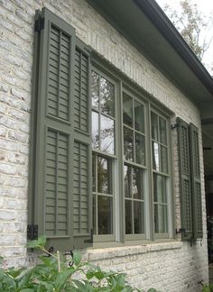 All About Exterior Window Shutters American Four Square
