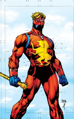 BEST COSTUME IN COMICS: # 2: Captain Britain (original costume): not sure why this got streamlined, but the colors and dynamism of the original strike a real chord for me. Plus you get to see that dreamy blond hair flowing! And who doesn't love a battle staff?