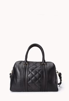 Iconic Quilted Boston Bag | FOREVER21 - 1000075901