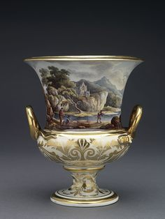 Derby Porcelain Factory (English, established Bone porcelain, hand-painted in polychrome enamels and gilded Ceramic Decor, Ceramic Pottery, Ceramic Art, Fine Porcelain, Porcelain Ceramics, Rococo, Royal Crown Derby, China Painting, Objet D'art