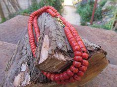 Old Natural red Coral Necklace by EastWestCollection on Etsy Ethnic Jewelry, Boho Jewelry, Beaded Jewelry, Delicate Jewelry, Simple Jewelry, Neck Piece, Jewelry Photography, Natural Red, Red Coral