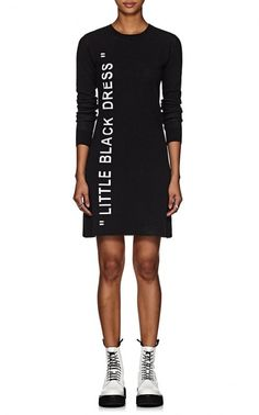 "Off-White c/o Virgil Abloh ""Little Black Dress"" Intarsia-Knit Sweaterdress White C, Off White, Urban Gear, Virgil Abloh, Cool Items, Fall Outfits, Campaign, Dresses For Work, Trends"