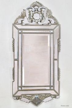 Vintage Venezia Portrait Silver Mirror : For sale at www.DUSX.com Dusx - French Mirrors, Chandeliers, Furniture