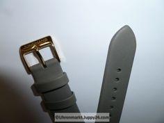 Junghans Max Bill Lederband 17mm grau Schließe vergoldet - Uhren Max Bill, Junghans, Tools, Pocket, Omega Watch, Leather Cord, Watches, Grey, Instruments