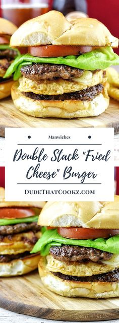 When one beef patty just won't do, try out my Double Burger With Fried Cheese - it will fill you up for sure! This is a pretty unique burger idea when you want something different but tasty.  via @dudethatcookz