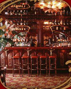 The belle époque bar at Maxim's in Paris