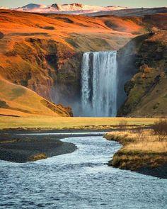 Skogafoss, Iceland. Photo by @christinhealey